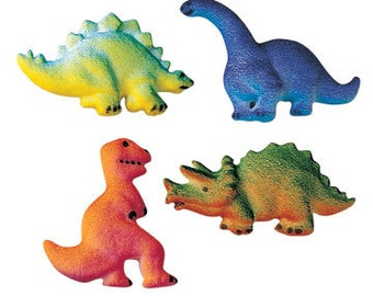 Dinosaur Sugar Decorations Toppers Cupcake Cake Cookies Birthday Favors Party 12 Count