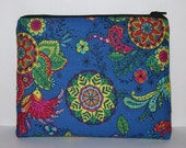 "Pipe Pouch, Mandala Bird Bag, Padded Bag, Pipe Case, Glass Pipe Bag, Padded Pouch, Hippie, 420, Stoner Gift, Gadget Bag, 7.5"" x 6"" - X LARGE"