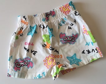 1980's Health-tex Summer Fun Shorts (3t/4t)