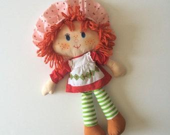 Vintage Strawberry Shortcake Rag Doll