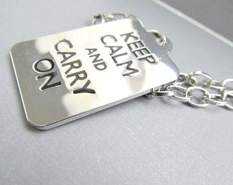 Keep Calm and Carry On Necklace, brittish necklace, england necklace, God Save The Queen