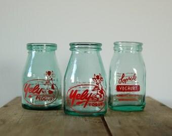 Vintage Yogurt Jars from South America, c. 1955