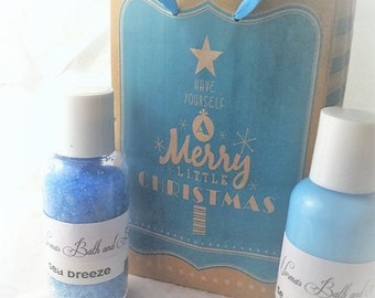 sea breeze bath and body gift set, bath set, gift set, gifts, handmade set, normas