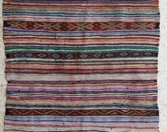 "260x140  cm ( 8.5"" x 4.6"") FREE SHIPPING worldwide KL27623 vintage berber kilim rug, flat rug, moroccan rugs , rag rug,morocco carpets"