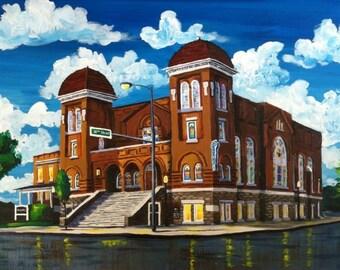 Birmingham painting 16th st baptist church
