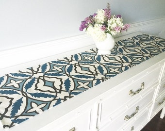 FREE US SHIPPING, Mid size Table Runner, Table Topper, Table Cover