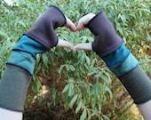 Fingerless Gloves Khaki, Greens, Brown