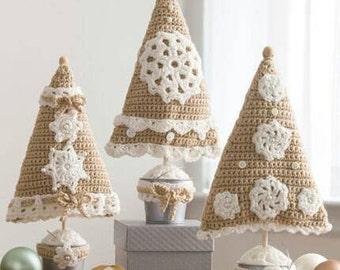 Handmade Crochet Christmas Tree Pillows or Decor