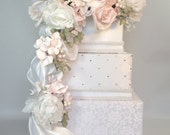 Wedding Card Box White, Lace and Light Pink Wedding Card Box Secured Lock Wedding Card Box Diamond Wedding Card Box Gold Wedding