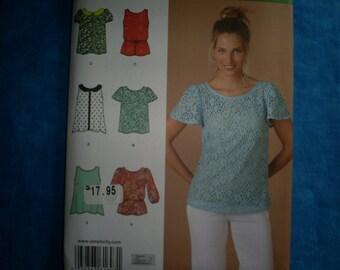 Simplicity 1693 Tunics Size 12-20.