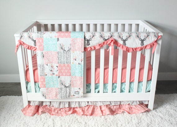 Fawn Crib Bedding Woodlands Fawn Girl Baby Bedding Baby
