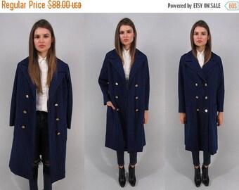 On Sale - 60s Knit Nautical Mod Coat, Striped Knit Coat, Sailor Coat, Double-Beast Coat, Navy Nautical Coat Δ fits sizes: sm / md / lg