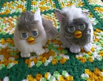 2 Furby Toys Buddies Bean Bag Plush 1990s