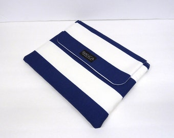 Blue Stripes Fabric Ipad/Tablet Cover Laptop Cover