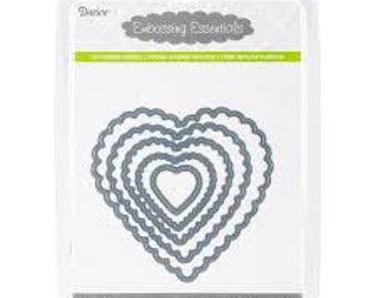 Darice Embossing Essentials Dies-Nesting Scallop Hearts 5/Pkg