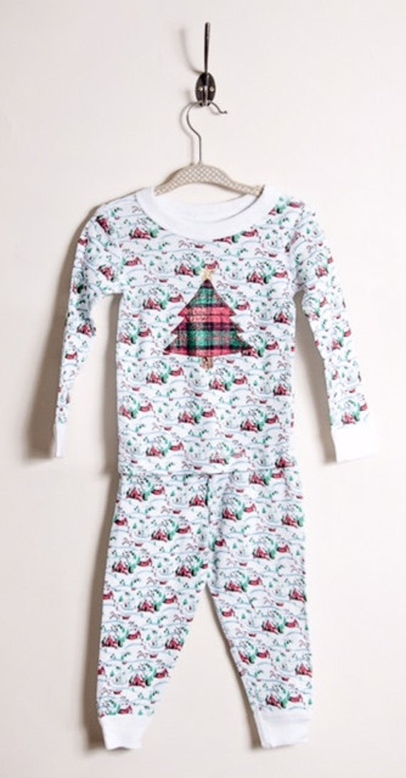 Children's Christmas pajamas organic cotton Christmas plaid Boys ...