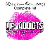 CLEARANCE SALE: December 2015 Lip Addicts Anonymous Complete Kit