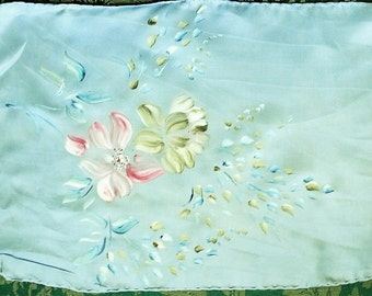 Hand Painted French Silk Scarf