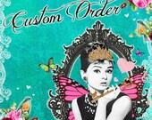 Custom order for TWO complete sets of 4 designer Buck/ Deer Antler REVERSIBLE Placemats/napkin place settings