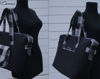 Ready to Ship Laptop bag - Customizable for Color Fabric and Size - Fully Padded -Tote-Handbag - Shoulder Bag-Everyday bag-interior Pockets