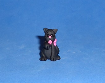 Polymer Clay Black IttyBitty Kitty