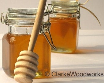 10 PLAIN HONEY DIPPERS - Honey Dipper Honey Pot Stick