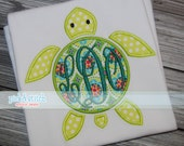 Monogram Sea Turtle Applique Design Machine Embroidery INSTANT DOWNLOAD