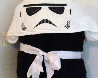 Galaxy Trooper (Storm Trooper) Star Wars Hooded Towel for Bath Pool