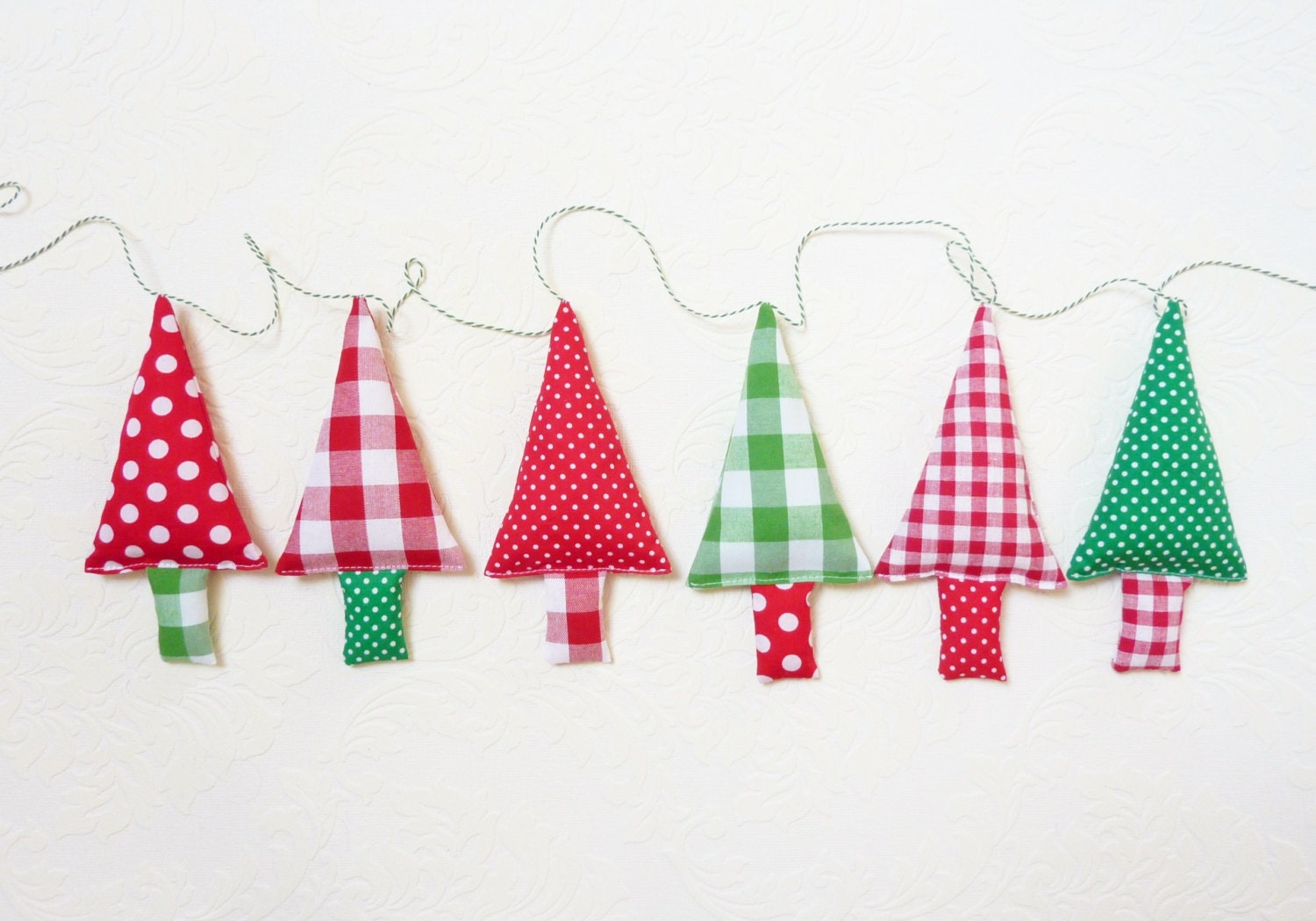 Fabric Christmas Garland Christmas Bunting By Fromjeanne