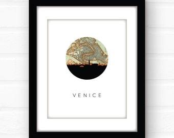 Venice map print | Venice, Italy map art | Venice print | Venice art print | Venice Italy print | Italy wall art | Italy souvenir | travel