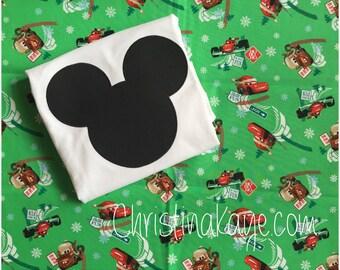 Mickey's custom Cars Christmas pajamas