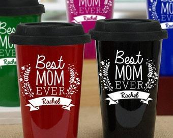 Engraved Best Mom Travel Mug -gfyL939813X