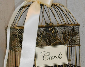 DIY Birdcage Wedding Card Holder / Small Birdcage / Wedding Decoration / Wedding Supply / DIY Wedding Decor / Birdcage Card Holder