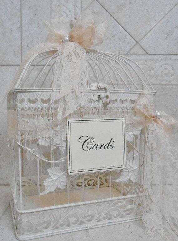 Birdcage Wedding Card Holder / Large Birdcage / Ivory Birdcage ...