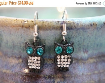 Back from vacation sale - Owl Earrings - Item 1728