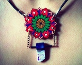 Wildflower Series: Claret Cup Cactus Flower Mandala Necklace