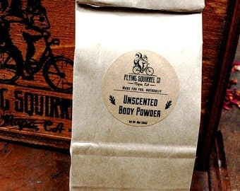 Natural Body Powder, Unscented 10 oz. Refill - Item# PWD_UNSCT_02