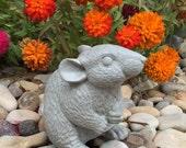 Concrete Mouse Statue - Gray Mouse
