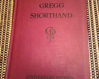 Vintage 1929 Edition Gregg Shorthand