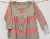 Baby girl dress! Soft cashmere, pinks, beige, warm, upcycled sweaters, toddler dress, infant clothing, special one of a kind dress