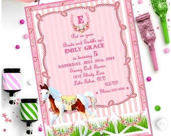 HORSE INVITATION - Personalized Printable Download