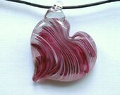 Glass Heart  Pendant :DISASTER RELIEF