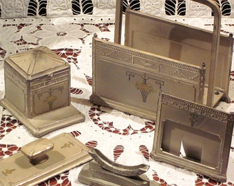 Art Deco Desk Set Ladies Vintage 1930's