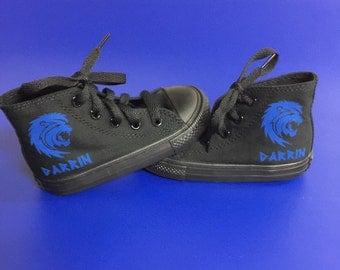 Custom Lion Converse Shoes