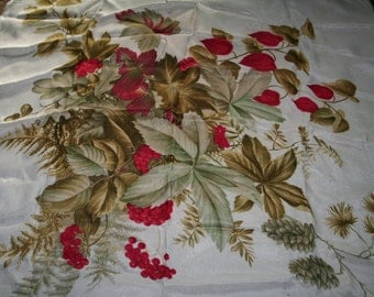 Vintage scarf with a harvest festival design
