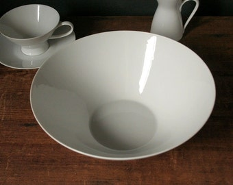 Vegetable bowl 1950's, mid century modern, Rosenthal china, Classic Modern White, Raymond Loewy