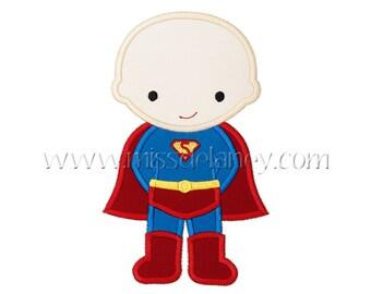 Super Boy (Bald) Applique Design