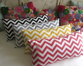 SALE chevron 4 colors available Pillow Cover 13x26
