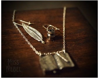 """Sterling silver earrings """"Quill & Ink"""""""