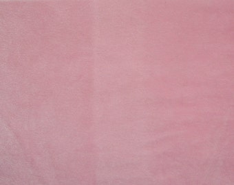 "Faux Fake Fur Solid Velboa  Fabric by the Yard  Pink 60"" wide baby clothes, costumes, teddy bears"